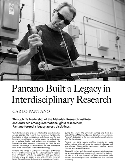 Carlo Pantano Built a Legacy in Interdisciplinary Research