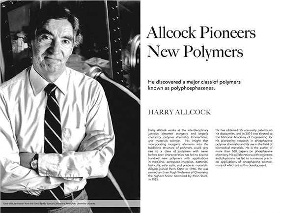 Harry Allcock Pioneers New Polymers