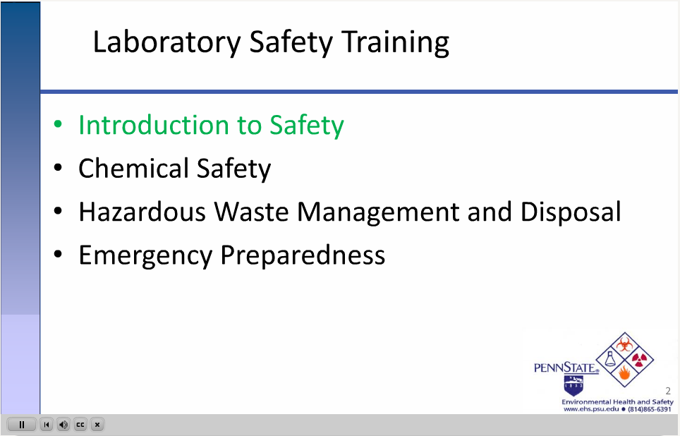 Training Requirements Required Laboratory Safety Trainingfederal