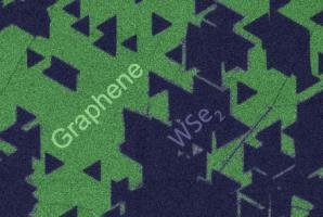 Colorized SEM image of graphene